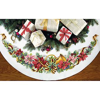 Holiday Harmony Tree Skirt Counted Cross Stitch Kit-45