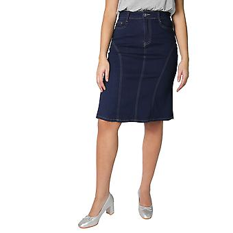 KRISP  Womens A Line Straight Pencil Denim Skirt Ladies Classic Knee Long Size 8-18