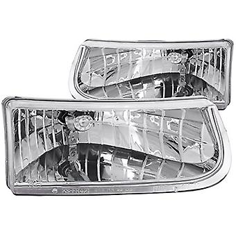 Anzo USA 111038 Ford Explorer Crystal Chrome Headlight Assembly - (Sold in Pairs)