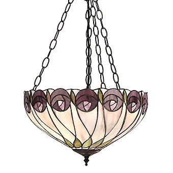Interiors 1900 Hutchinson 3 Light Medium Ceiling Pendant In Bron