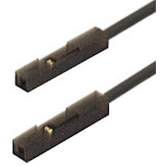 Test lead [0.64 mm socket - 0.64 mm socket] 0.25 m Black SKS Hirschmann MKL 0,64/25-0,25