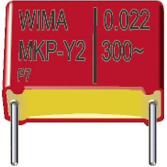 Wima MKY22W21004B00MSSD 1 pc(s) MKP-X2 suppression capacitor Radial lead 0.01 µF 300 V AC 20 % 15 mm (L x W x H) 18 x 5 x 11 mm