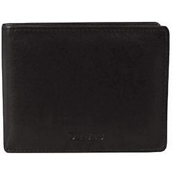 Dents Leather Coin / Card Bill-Fold Wallet - Black