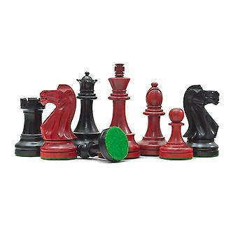 Broadbase Chess Men in Red and Black 3.75 inch