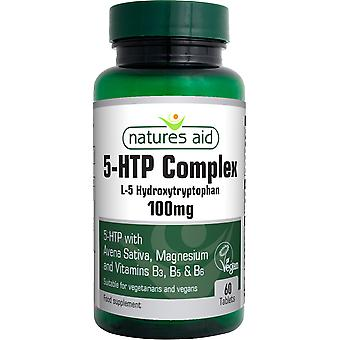 Natures Aid 5-HTP Complex with Avena Sativa, 60 Tablets