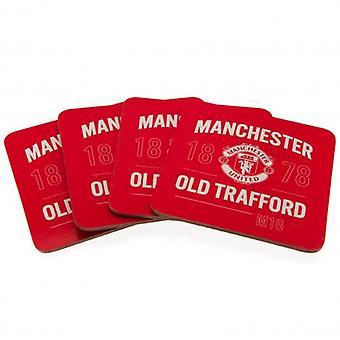 Manchester Utd 4pk Coaster Set