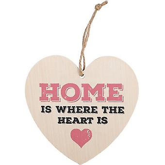 Something Different Home Is Where The Heart Is Hanging Heart Sign