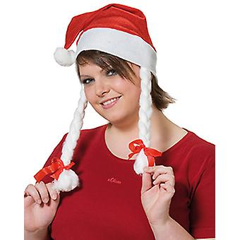 Santa hat with plaits