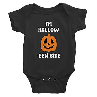 Hollow Inside Pumpkin Baby Bodysuit Gift Black