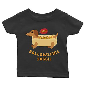 Halloweenie Doggie Baby Gift Tee Black