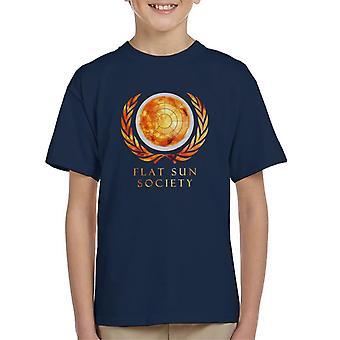 Flache Sonne Gesellschaft Kinder T-Shirt