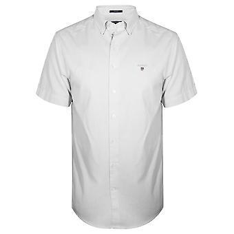 Gant GANT White Oxford Regular Short-Sleeve Shirt