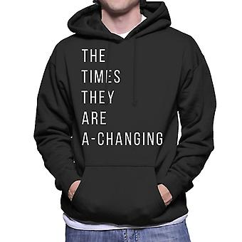 The Times They Are A Changing Song Lyric Men's Hooded Sweatshirt