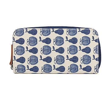 Pink Lining Wallet- Apples & Pears Blue