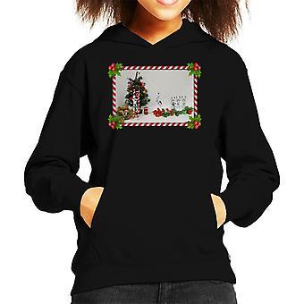 Original Stormtrooper Christmas Tree Candy Cane Slide Kid's Hooded Sweatshirt