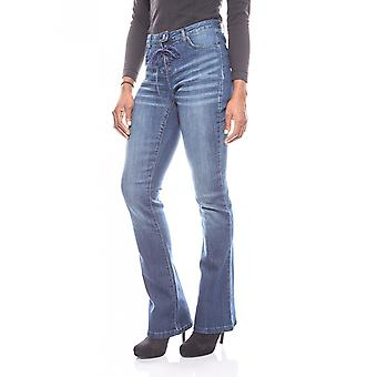 Aniston classic women's jeans with lace blue
