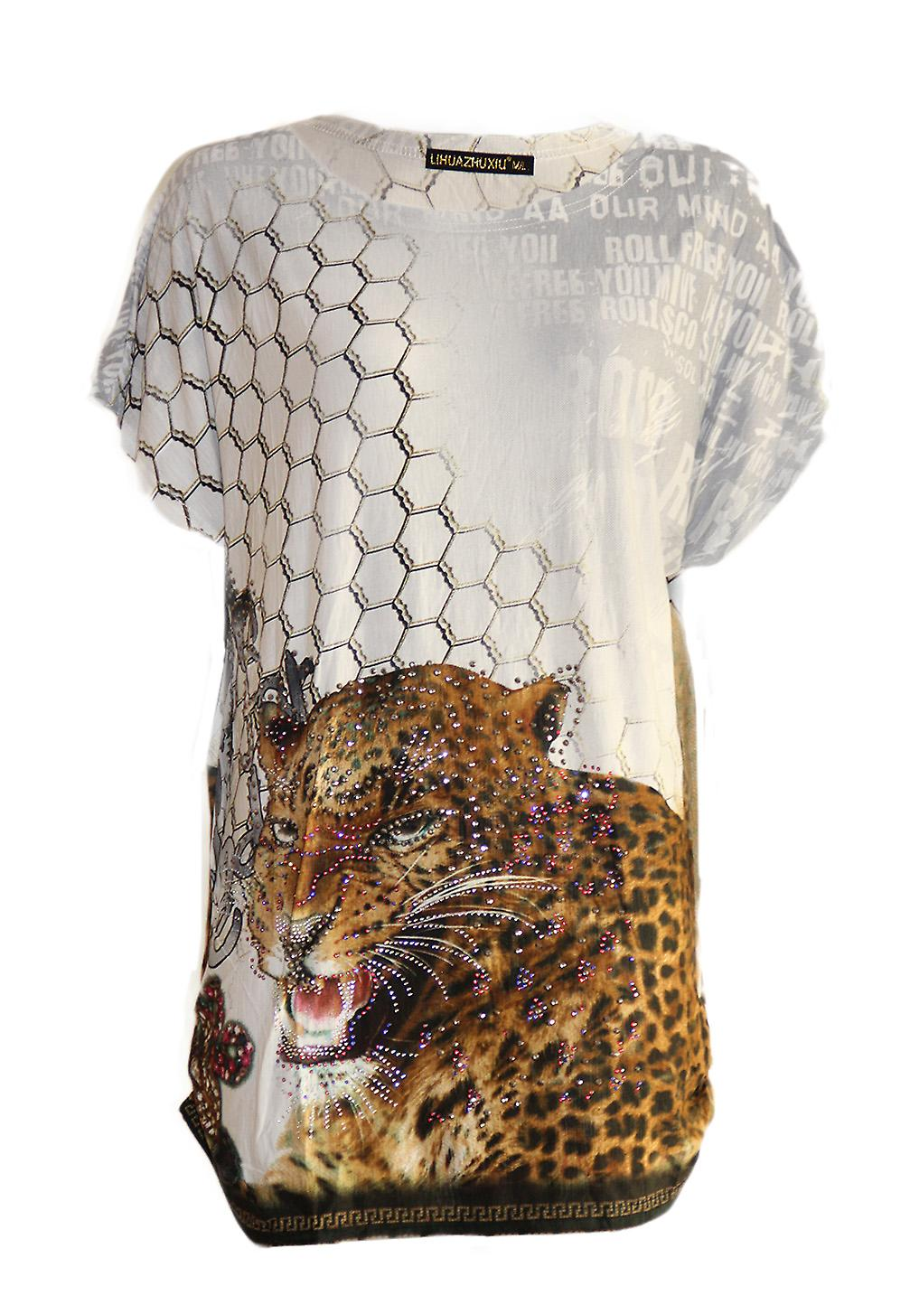 Waooh leopard tunic and rhinestones