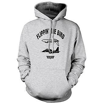 Mens Hoodie - Top Gun USAF Flippin Bird - Funny