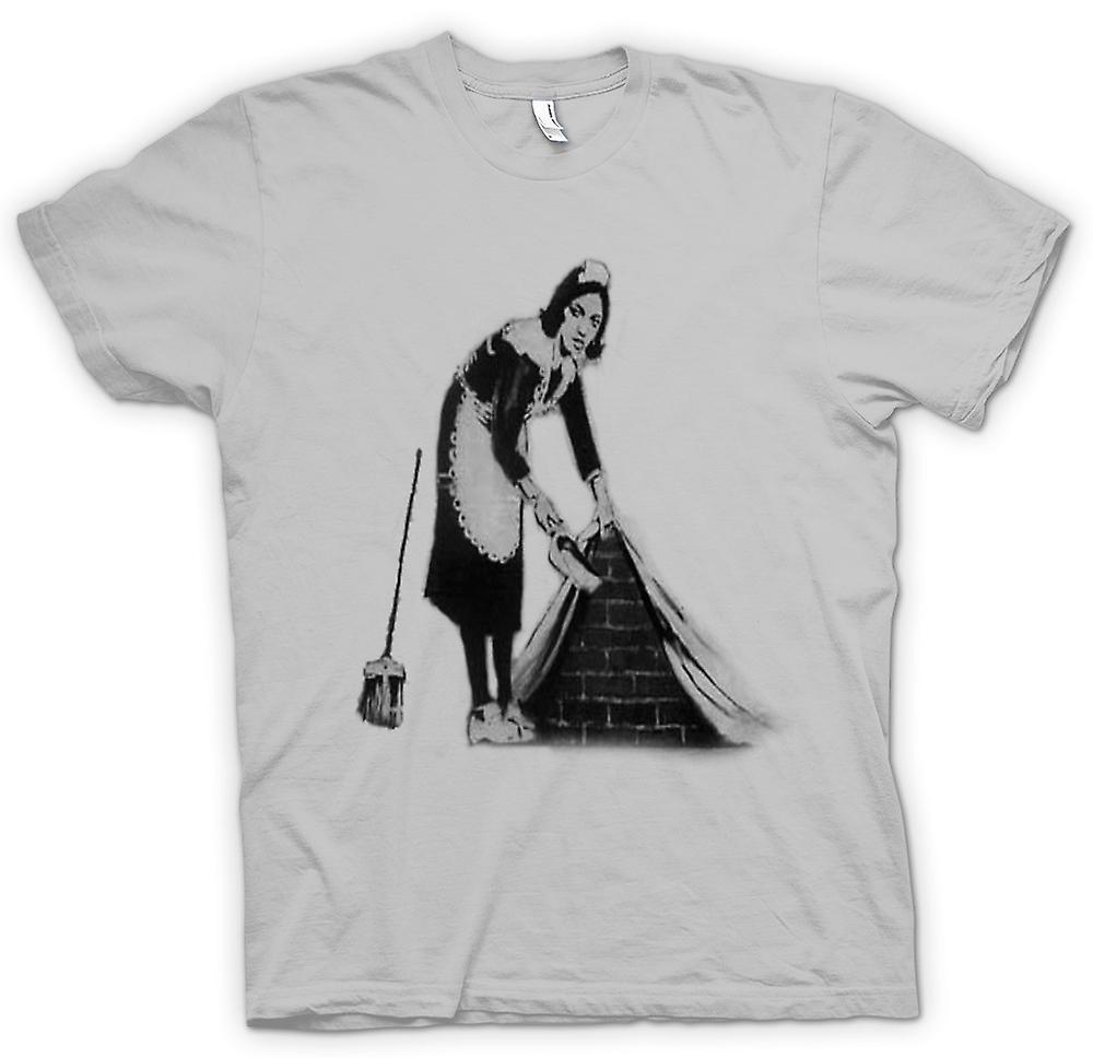 Mens T-shirt - Banksy Graffiti Art - Maid