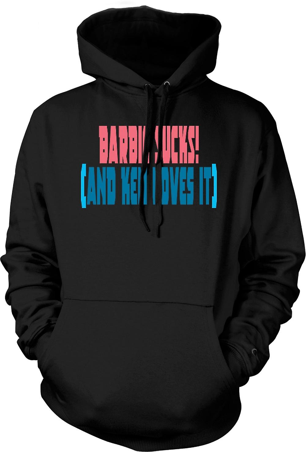 Mens Hoodie - Barbie Sucks! (Et Ken aime) - Quote