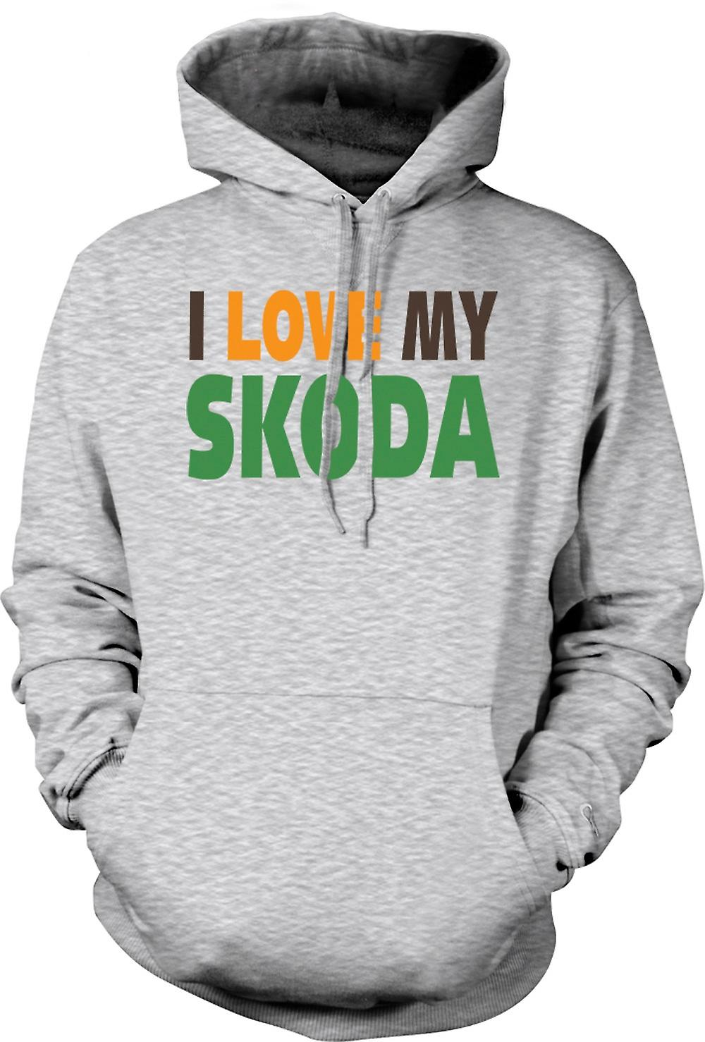 Mens Hoodie - I Love My Skoda - Car Enthusiast