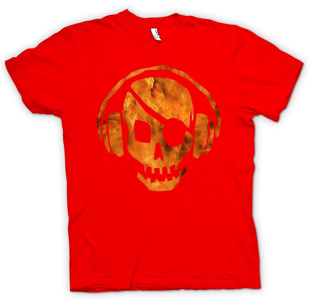 Mens t-shirt-Pirata DJ - Anti pirateria