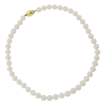 TOC 9ct Yellow Gold Cream Freshwater Cultured Spherical Pearl Necklace 17 Inch
