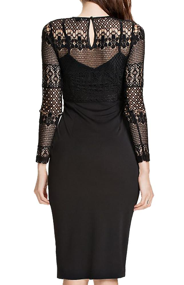 Waooh - knee dress with lace Bauki