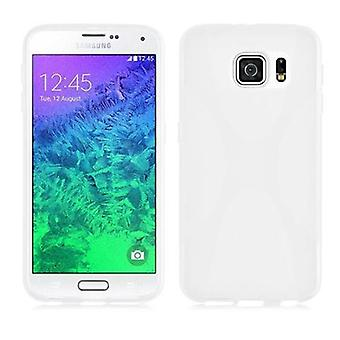 Cadorabo sleeve for Samsung Galaxy S6 - mobile cover from flexible TPU silicone X-line design - silicone case cover soft back cover case bumper