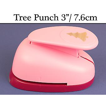 7.6cm Lever Action Craft Punch - Christmas Tree | Christmas Paper Punch