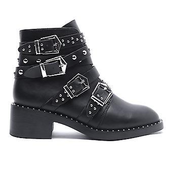 Glamorous Womens Stud Buckle Boots