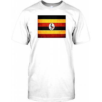 Uganda Grunge effekt flagga barn T Shirt