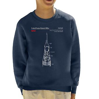 NASA Apollo Start Mondlandung Mission Blueprint Kinder Sweatshirt