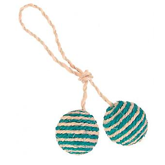 Trixie Sisal Rope With Balls Catnip (Cats , Toys , Balls)
