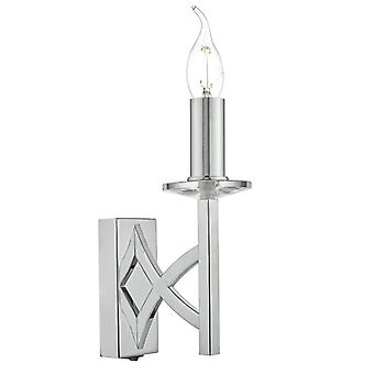 Lyon 1lt Wall Light Polished Chrome & Crystal