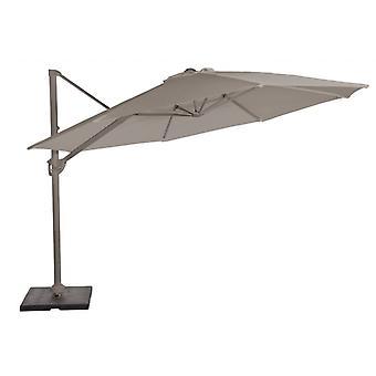 Beach7 | Naxos zweefparasol rond polyester doek |  Antraciet/Dark Grey | parasols