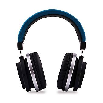 Bluetooth headphones with CoolBox COOLPREMIUM microphone blue