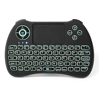 Ipazzport kp-810-21q 2.4g wireless spainish three color backlit mini keyboard touchpad air mouse
