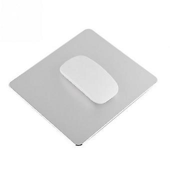 TRIXES Aluminium Maus Matte Non-Slip Metall Pad wasserdicht 22 x 18cm Silber Farbe