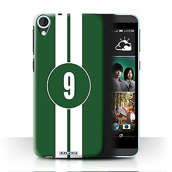 STUFF4 Case/Cover for HTC Desire 820s Dual/Jaguar/Green/Racing Car Stripes