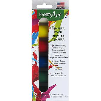 Handy Art Tempera Paint Kit .75oz 6/Pkg-Primary 882-115J