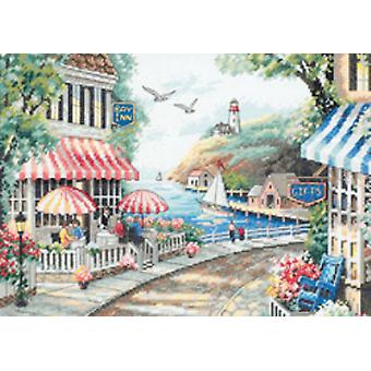 Cafe By The Sea Counted Cross Stitch Kit 14