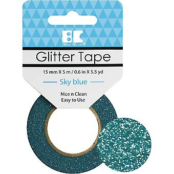 Best Creation Glitter Tape 15mmX5m-Sky Blue GTS-007