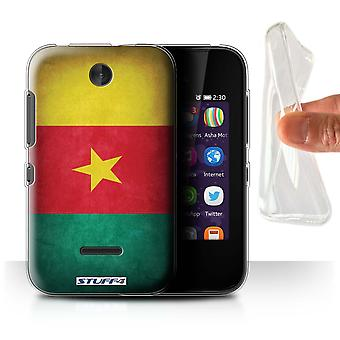 STUFF4 Gel/TPU Case/Cover for Nokia Asha 230/Cameroon/Cameroonian/Flags