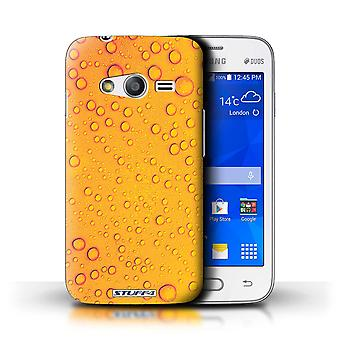 STUFF4 Case/Cover for Samsung Galaxy S Duos 3/G313/Orange/Yellow/Water Droplets