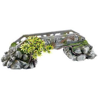 Classic For Pets Bridge with Plants 390mm (Fish , Decoration , Ornaments)