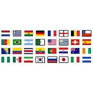 32 land Football World Cup 2014 flagg Pack (5 ft x 3 ft)