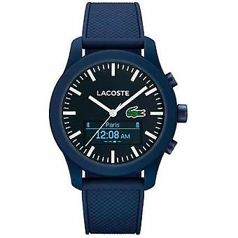 Lacoste Mens 12.12 Contact Bluetooth Smart Blue Rubber 2010882 Watch