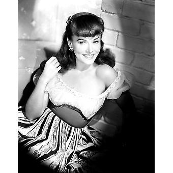 Paulette Goddard Ca mitten av 1940-talet Photo Print