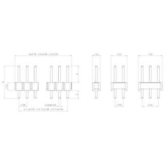 Pin strip (standard) No. of rows: 1 Pins per row: 50 W & P Products 943-13-050-00 1 pc(s)